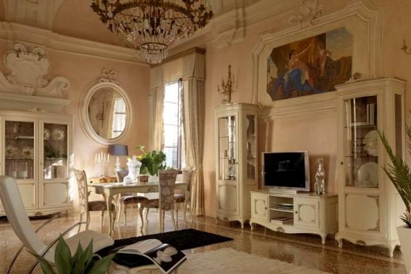 оформление итальянской гостиной