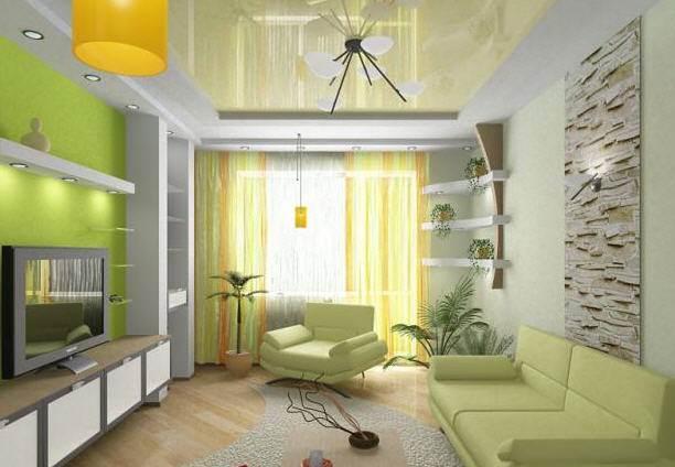 Маленькая гостиная - дизайн и интерьер комнаты