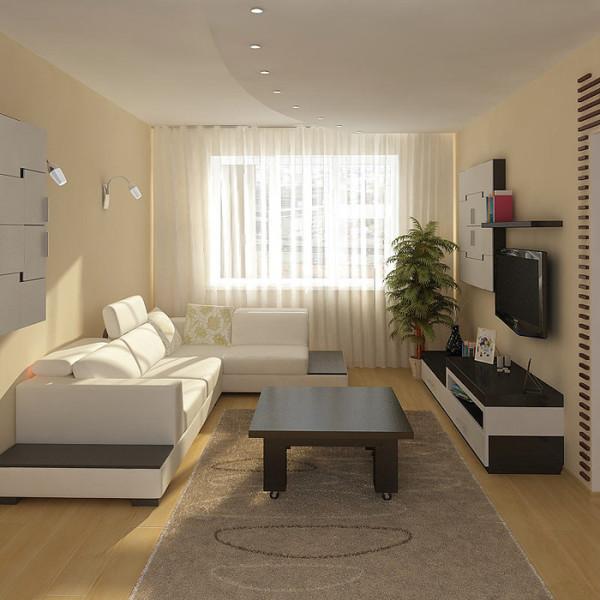 дизайн гостиной 17 кв м