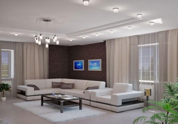 потолочные светильники для гостиной