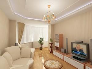 гостиная 15 кв м