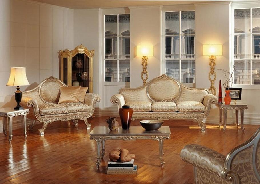 Дизайн гостиной в стиле барокко