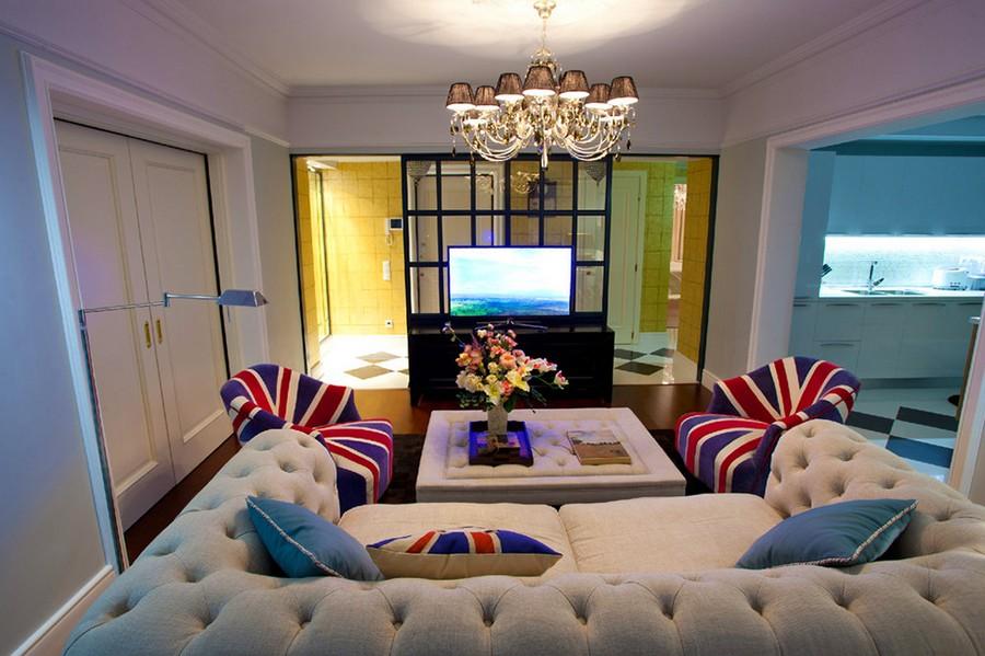Английская гостиная - традиционный стиль дизайна интерьера