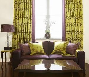 Стильные шторы для гостиной — оригинальное оформление окна