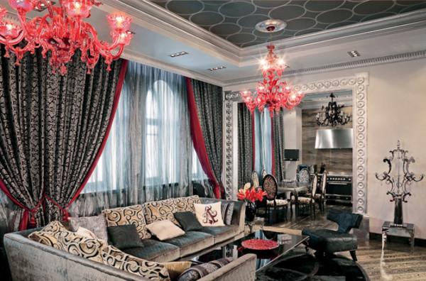 дизайн гостиной в итальянском стиле