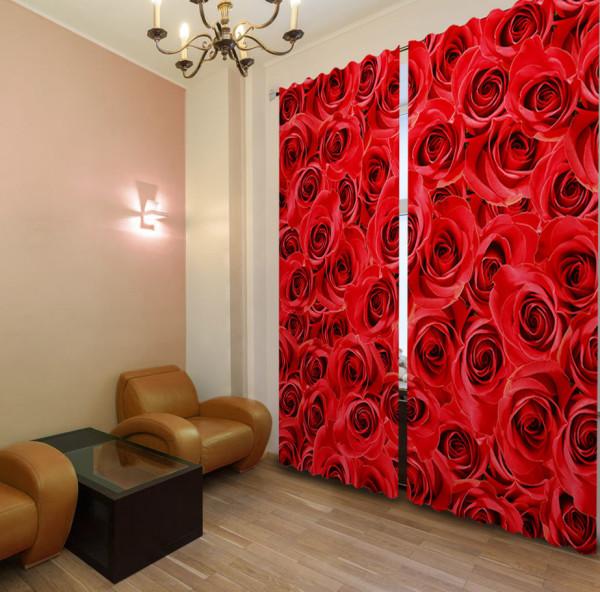 стильные шторы панно в гостиной