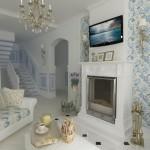 Стиль прованс в интерьере гостиной - дизайн комнаты