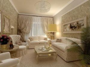 Дизайн и интерьер гостиной в классическом стиле