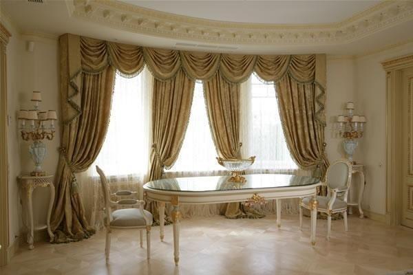 дизайн элитных штор для гостиной
