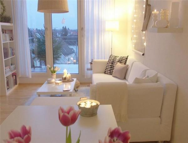 интерьер небольшой гостиной