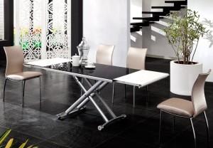 стол трансформер в интерьере гостиной