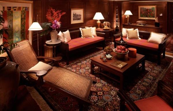 интерьер восточной гостиной