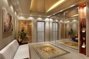 оформление большой гостиной