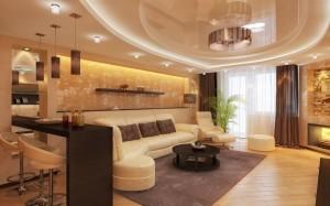 Интерьер и дизайн большой гостиной — фото комнаты и советы