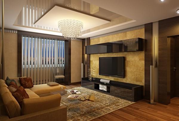 ремонт в гостиной современное направление