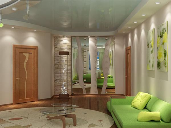 современные идеи ремонта в гостиной