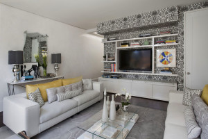Серые обои в гостиной - оформление и дизайн
