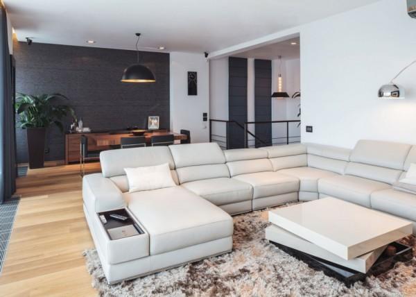 современный ремонт в гостиной