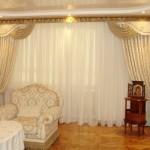 Портьеры для гостиной - советы и фото