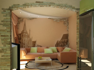 Как оформить стены в гостиной своими руками?