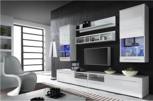 стенка белого цвета для гостиной