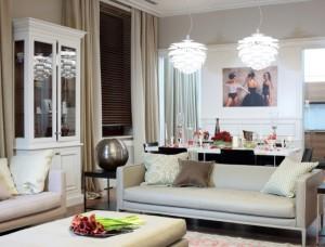 Стиль фьюжн в интерьере гостиной комнаты