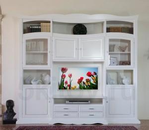 Белая стенка в гостиную - правила отличного интерьера