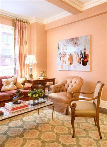 цвет стен в интерьере гостиной