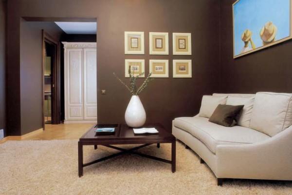 цвет стен в  гостиной комнате