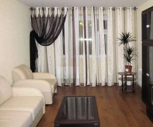 оригинальные шторы в гостиной