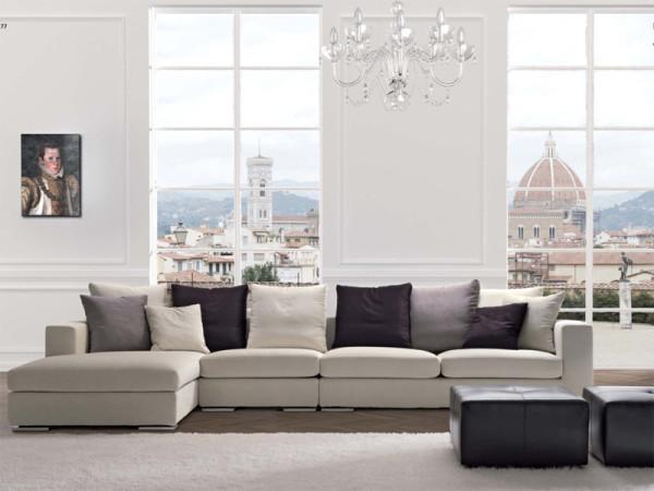 современный диван в интерьере гостиной