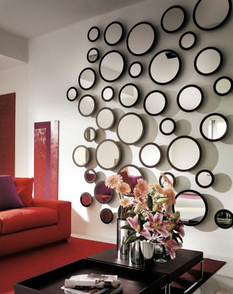 декорирование стен в гостиной