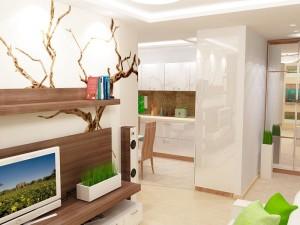гостиная в стиле эко