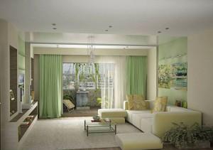 Гостиная комната в стиле эко