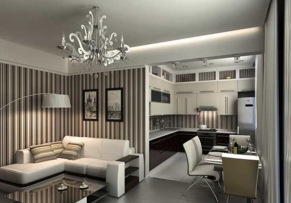 гостиная кухня дизайн