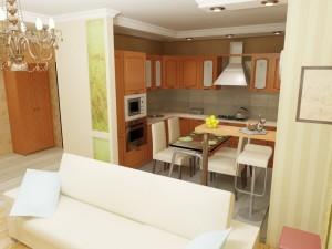 Кухня-гостиная в хрущевке — особенности