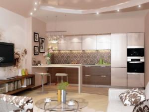 Маленькая гостиная, совмещенная с кухней — советы