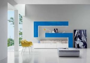 глянцевая стенка в гостиной
