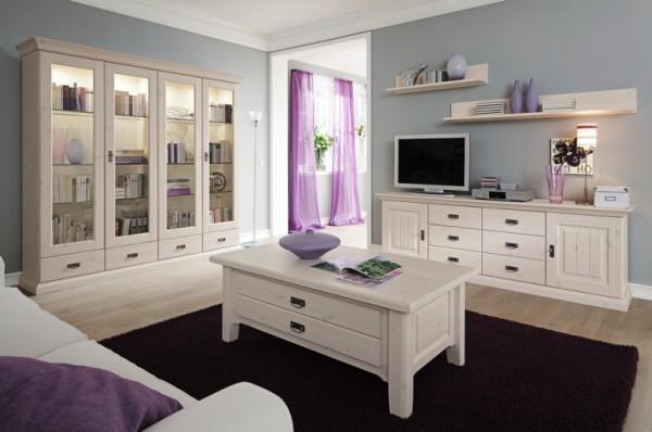 мебель из дерева в интерьере  гостиной