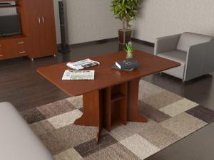 стол-книжка в интерьере гостиной