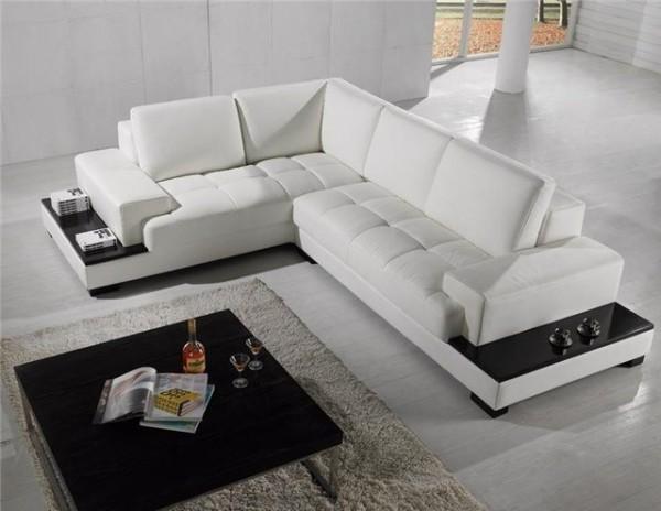 мебель из кожи для гостиной