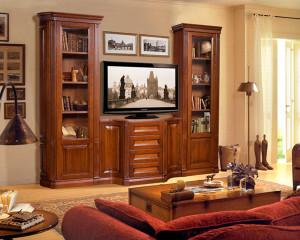 Мебель из массива в гостиную — интерьер комнаты