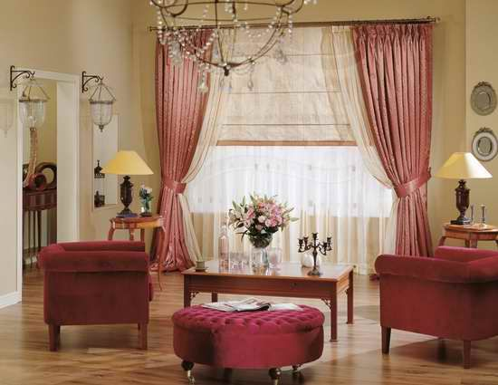 идеи штор в гостиную