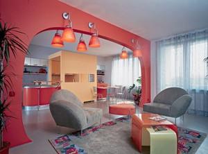 Арка в интерьере - разделяем кухню и гостиную