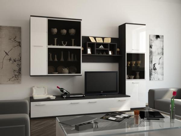 глянцевая мебель в гостиной
