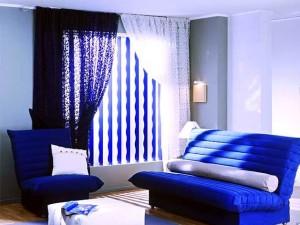 мебель в синей гостиной