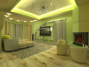 Фисташковая гостиная - оригинальные решения для интерьера