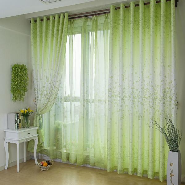 зеленые шторы для гостиной