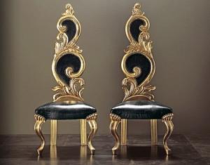 кожаные стулья для гостиной