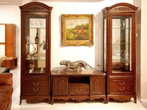 Классические витрины для гостиной комнаты - советы